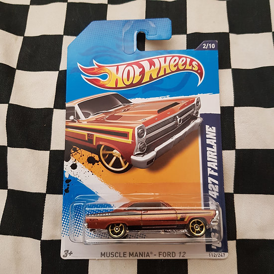 Hot Wheels 2012 Muscle Mania Ford 66 427 Fairlane Brown