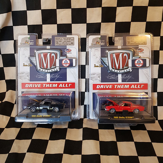 M2 Machines Carroll Shelby 1966 Shelby Mustang GT350H RED/BLACK