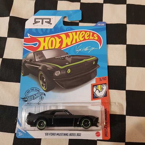 Hot Wheels 2020 Muscle Mania RTR 69 Ford Mustang Boss 302 Black
