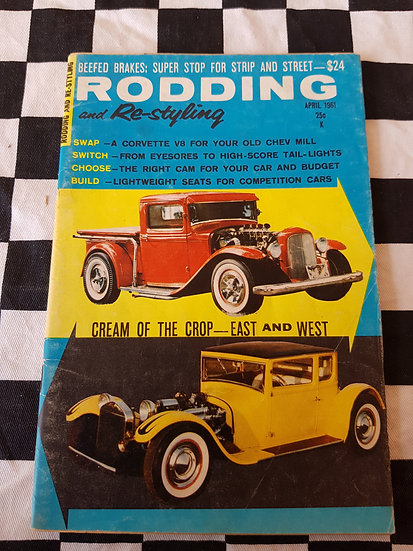 (LITTLE PAGES) RODDING & RESTYLING magazine april 1961