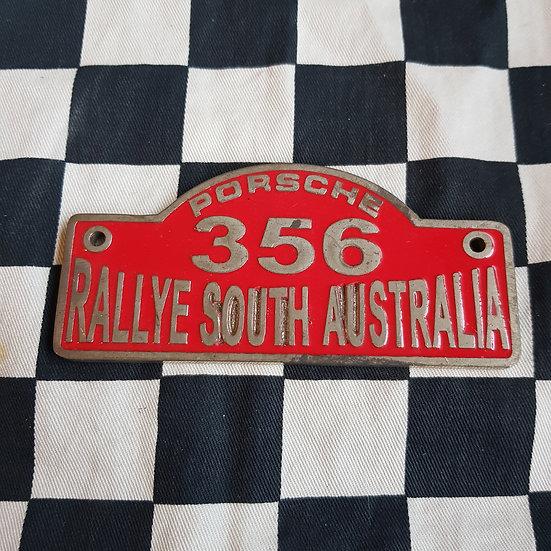 Porsche 356 Rallye South Australia Badge/ Plaque