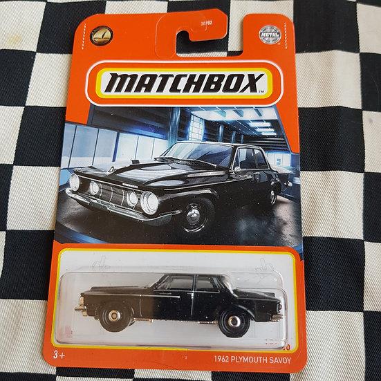 Matchbox 1962 Plymoth Savoy Black Carded