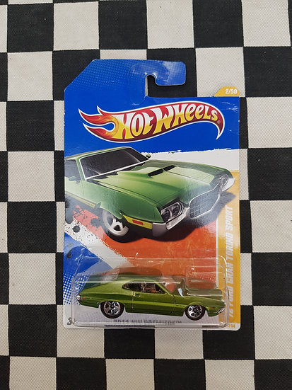 Hot Wheels 2011 First Edition 72 Ford Gran Torino Sport