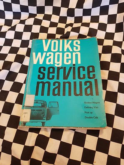 VOLKSWAGEN KOMBI Genuine Workshop manual 1968-70