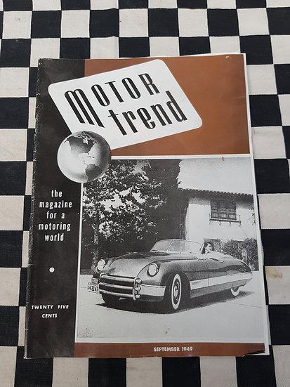 UBER RARE! Motor Trend Vol 1 No 1 Sept 1949