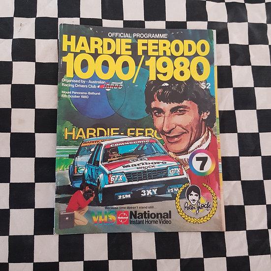 Original 1980 Hardie Ferodo Bathurst Programme