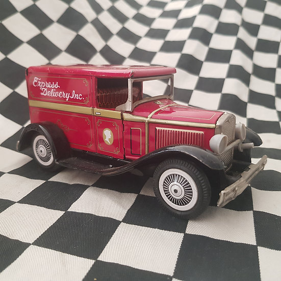 Vintage Bandai Ford Model A Delivery Japanese Tin Toy