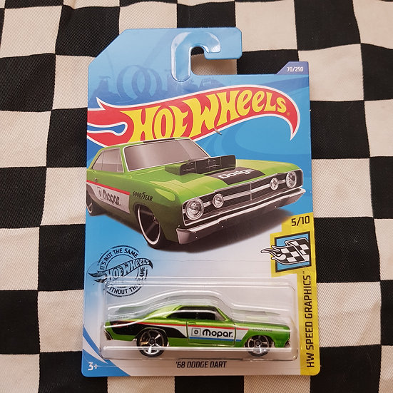 Hot Wheels 2020 Speed Graphics 68 Dodge Dart Mopar Green