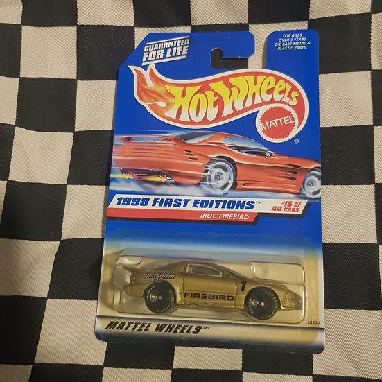 Hot Wheels 1998 First Edition Iroc Firebird Gold
