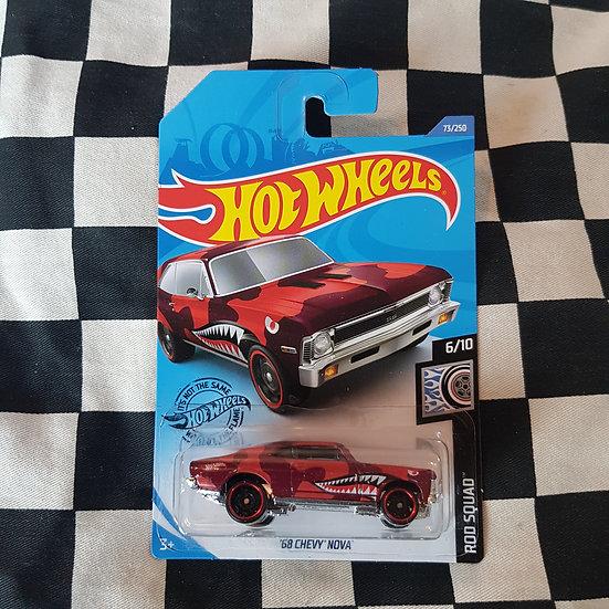 Hot Wheels 2020 Rod Squad 68 Chevy Nova Red
