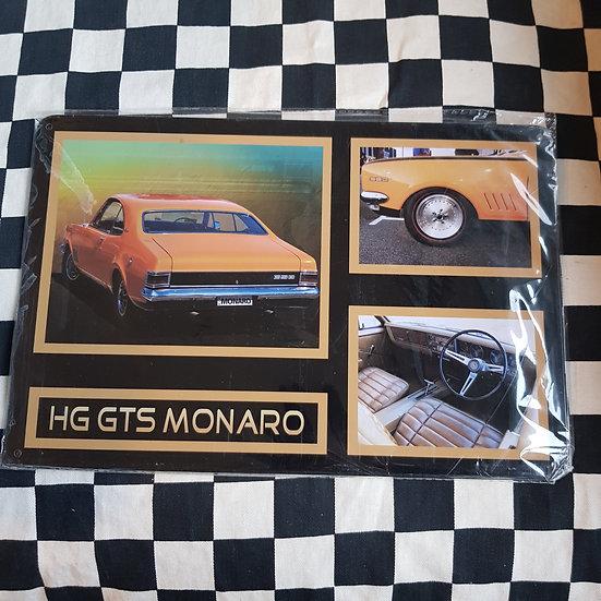 Tin Sign Repro 20x30 HG GTS Monaro