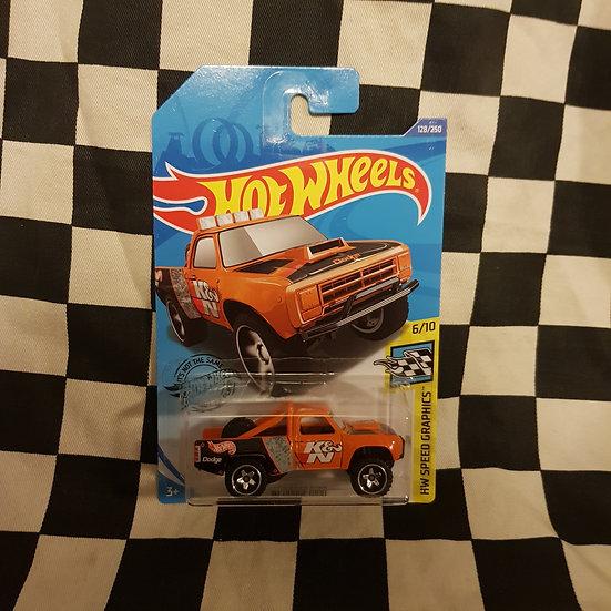 Hot Wheels 2020 Speed Graphics 87 Dodge D100 Pickup K&N Orange