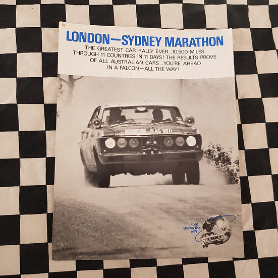 Genuine Ford Falcon XT GT 12 Page Brochure London Sydney Marathon
