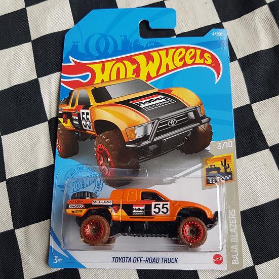 Hot Wheels 2021 Baja Blazers Toyota Off Road Truck  Orange 4x4 Pickup