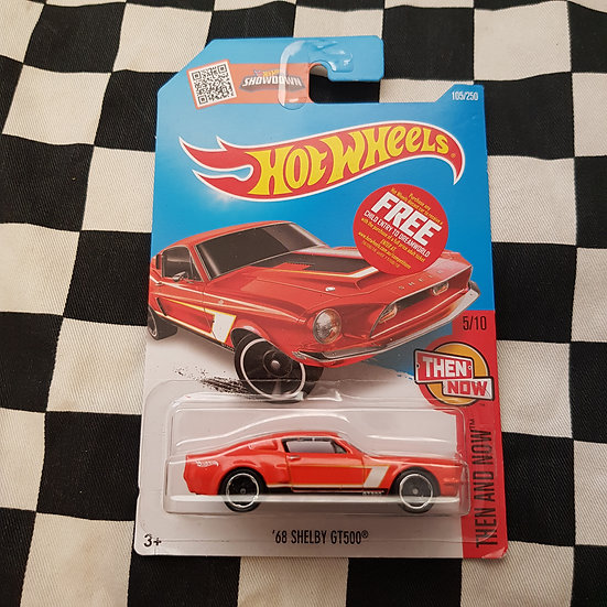 Hot Wheels 2015 Then and Now 68 Shelby GT500 Mustang Orange