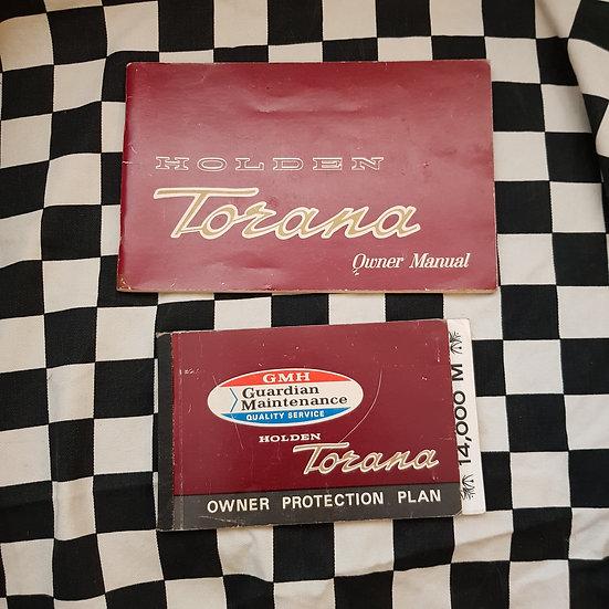 Genuine Holden LC Torana Qwners Service Manuals Set