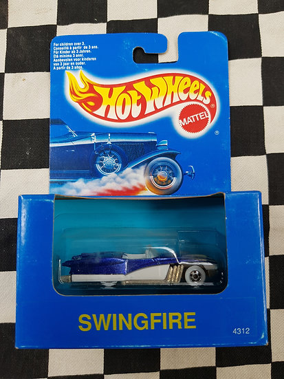 Hot Wheels 1991 Blue Boxed Swingfire custom