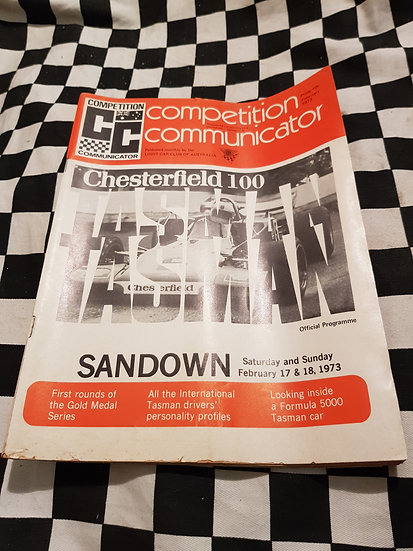 Competition Communicator Vol 1 #5 Feb 1973 race programme