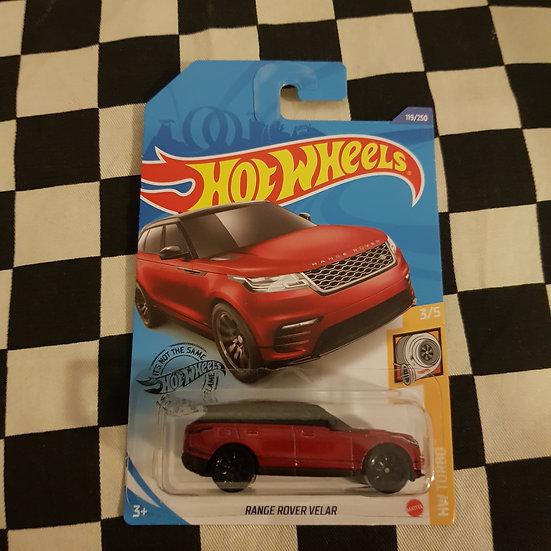 Hot Wheels 2020 Turbo Range Rover Velar Red