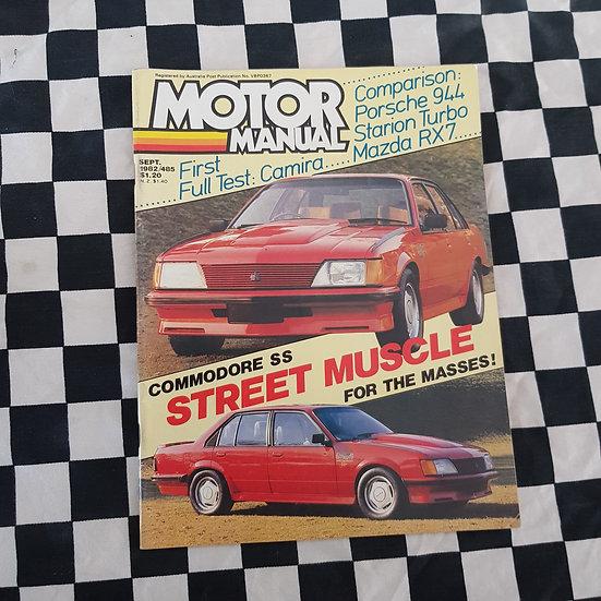 Motor Manual Magazine Sept 1982 VH SS Commodore