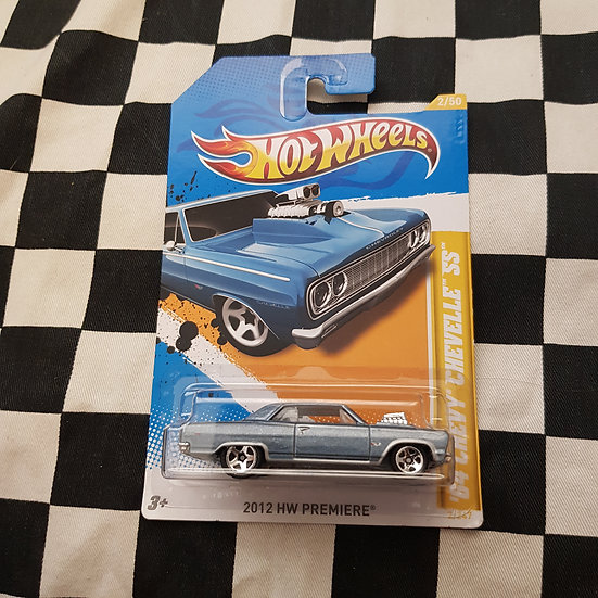 Hot Wheels 2012 First Editions 64 Chevy Chevelle SS Blue
