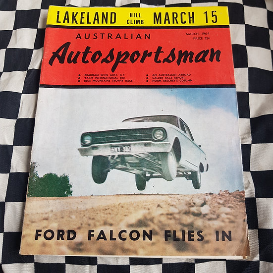 Australian Autosportsman  MARCH 1964  XL Faclon