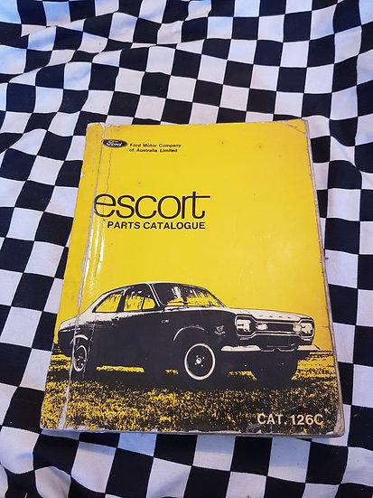 Genuine Ford Escort 1970-71 Full Illustrated parts catalogue