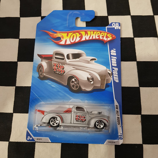 Hot Wheels 2010 Hot Rods 40 Ford Pickup Drag Truck Silver