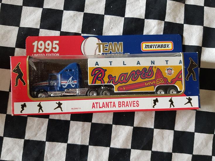 Matchbox 95 Team Atlanta Braves Transporter Truck Baseball