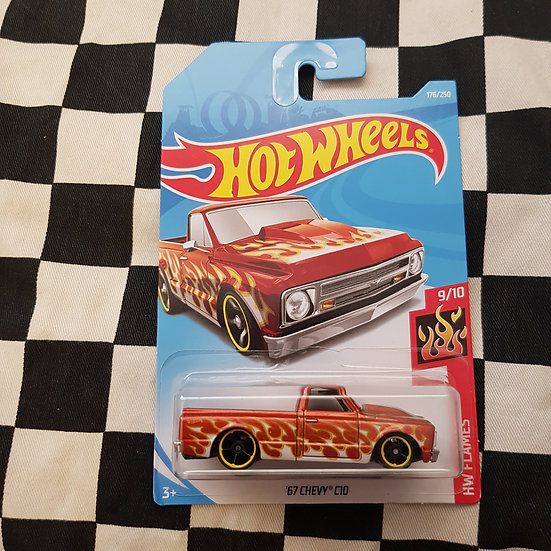 Hot Wheels Flame 67 Chevy C10 Pickup Truck Copper