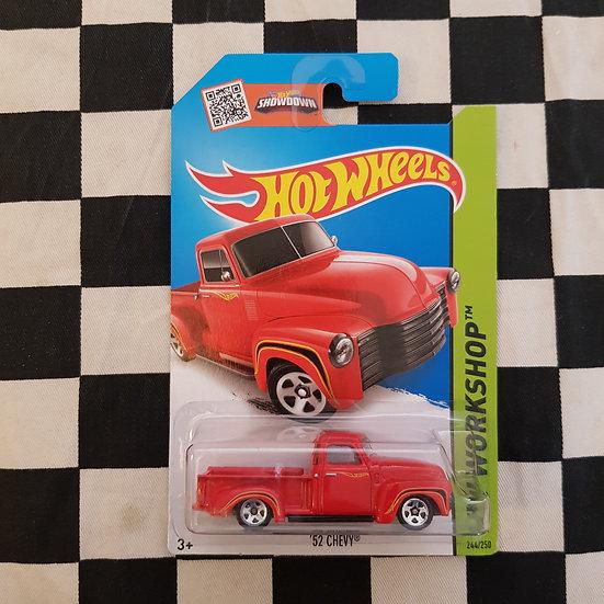 Hot Wheels 2013 Workshop 52 Chevy Truck Red
