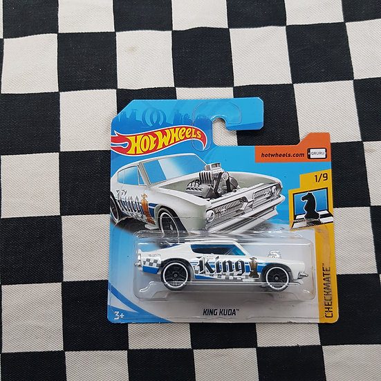 Hot Wheels 2018 Checkmate King Kuda Barracuda White Short Card