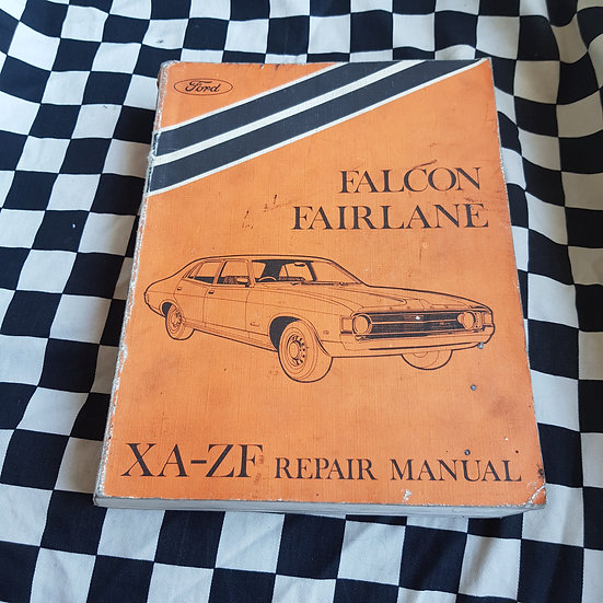 Genuine Ford Falcon XA Fairlane ZF Workshop Manual