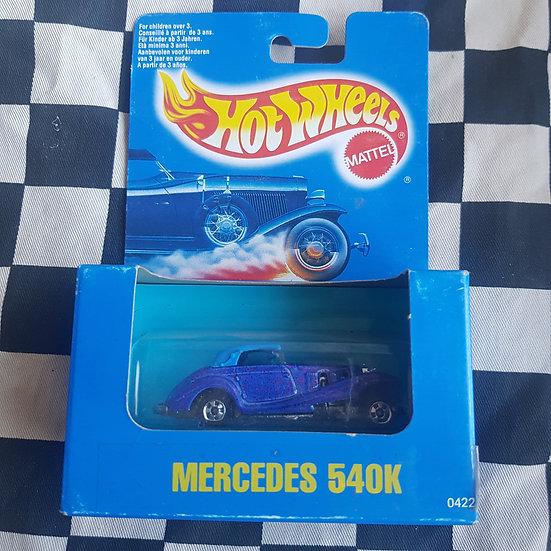 Hot Wheels 1991 Blue Boxed Mercedes 540k