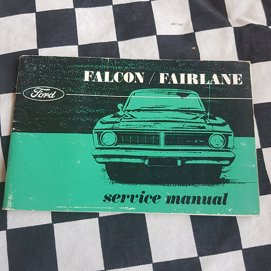 Genuine Ford Falcon XY Service Maintenance Schedule  Manual