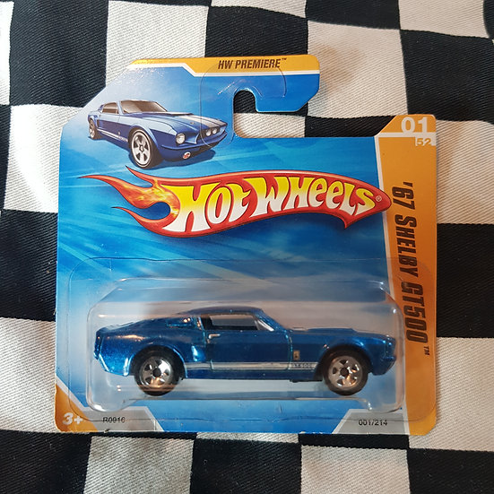 Hot Wheels 2010 First Edition 67 Shelby GT500 Blue Short Card Mustang