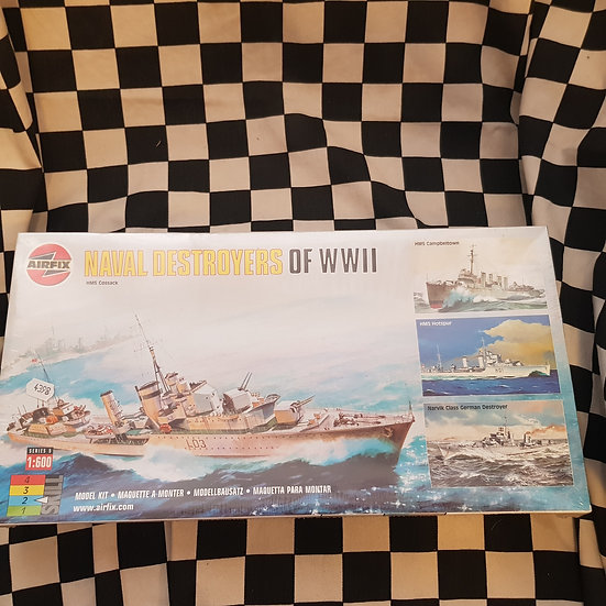 Airfix Naval Destroyers of WWII 4 Models 1:600 Plastic Model Kit