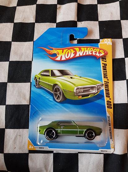 Hot wheels 2010 First Edition 67 Pontiac Firebird 400 Green