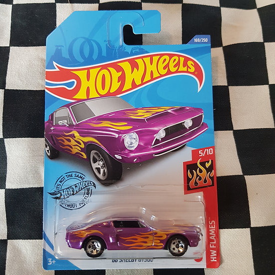 Hot Wheels 2020 Flames 68 Shelby GT 500 Mustang Pink