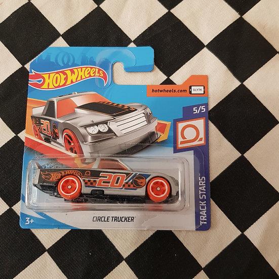 Hot Wheels 2020 Treasure Hunt Track Stars Circle Trucker Short Card Silver