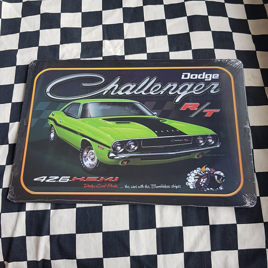 Tin Sign Repro 20x30 Dodge Challenger R/T