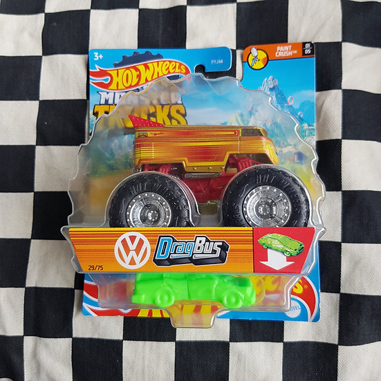 Hot Wheels Monster Trucks Volkswagen Drag Bus Red/Yellow