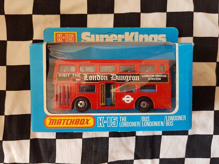 Matchbox Super Kings K15 The Londoner Double Decker Bus London Dungeon