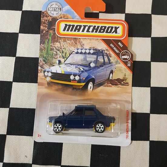 Matchbox 70 Datsun 510 Rally Blue