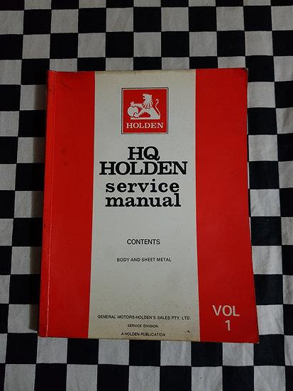 Holden HQ vol 1 Body And Sheet Metal. hj hx hz
