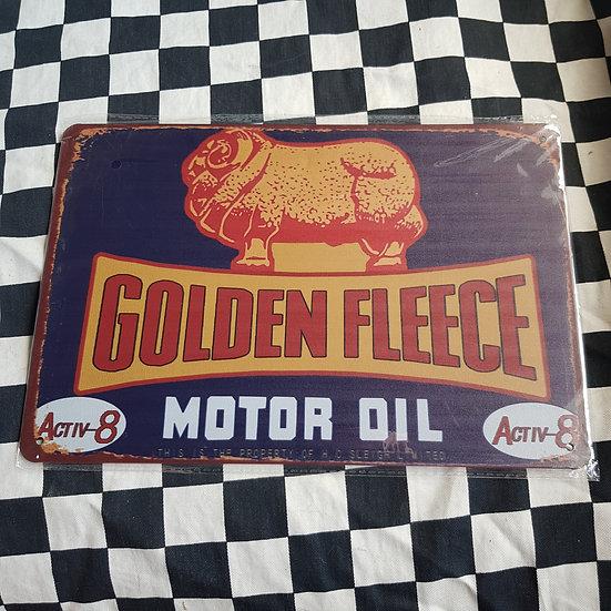 Tin Sign Repro 20x30 Golden Fleece Motor Oil