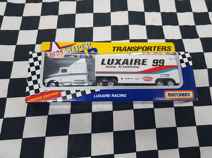 Matchbox Convoy 1995 Super Stars Transporters 2 LUXAIRE RACING Truck