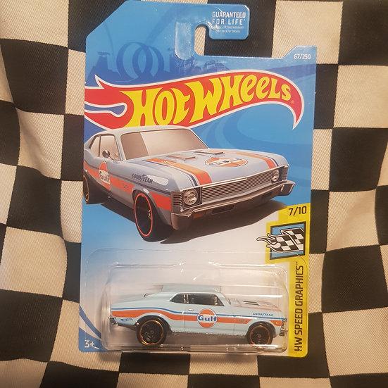 Hot Wheels 2019 Speed Graphics Gulf 68 Chevy Nova Blue