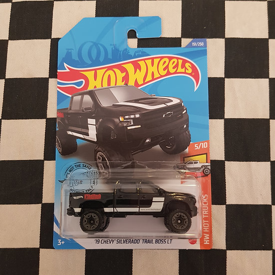 Hot Wheels 2020 Hot Trucks 19 Chevy Silverado Trail Boss LT Black