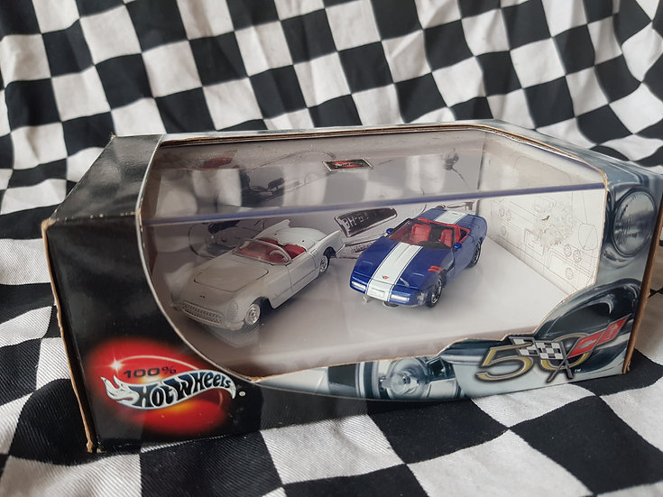 Hot Wheels 100% Corvette 50th Anniversary Twin Set